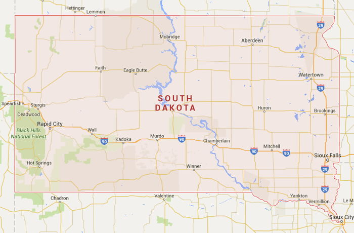 South Dakota\'s Western Border